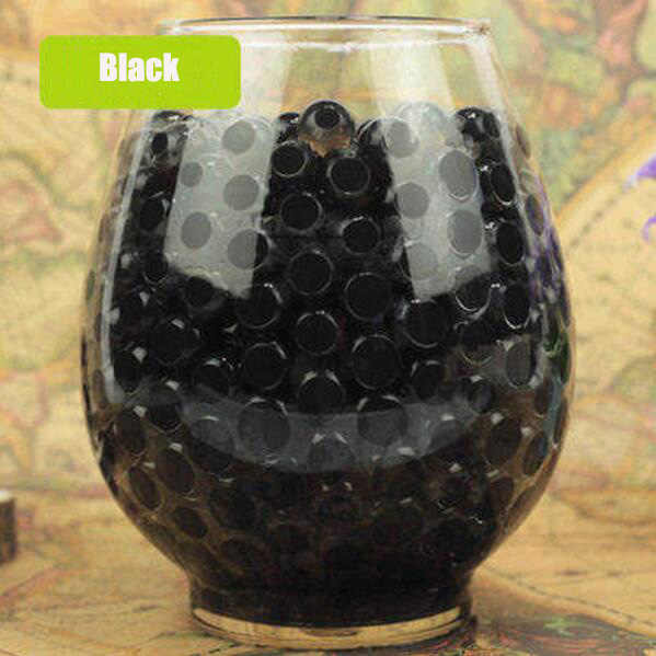 Черная кристаллическая почва, 100 шт, растут водные бусины, милый гидрогель, волшебный гель, желе шары orbiz, морские малыши, декор в виде вазы D
