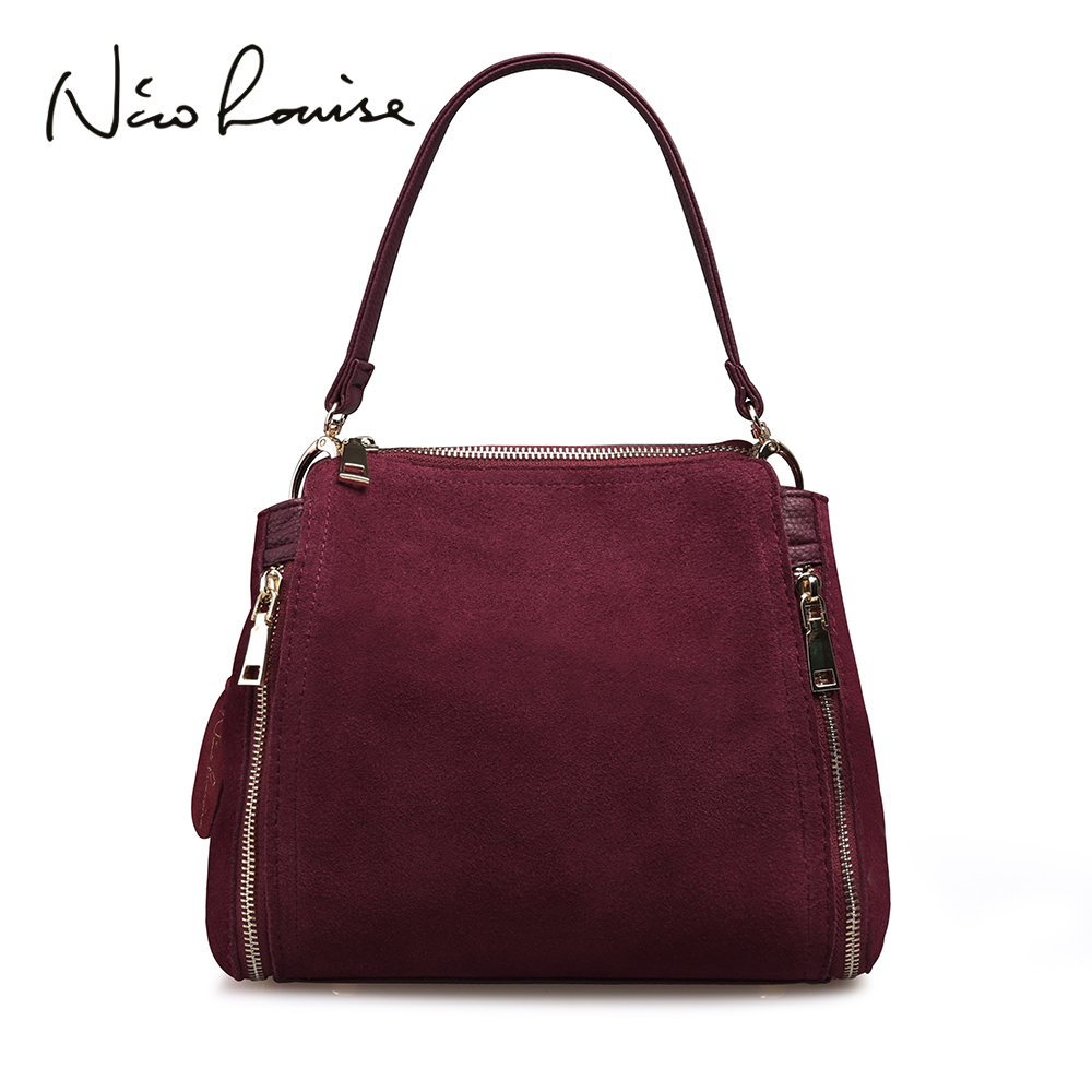 Shoulder-Bag Main Suede Women Fashion Brand-New Female Real Doctor for Girls Sac