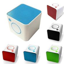 Mini Square Bluetooth radio Speaker Louder Bass Voice Box TF Card TF card music player FM Wireless TF card Bluetooth