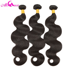 Ali Coco Human Hair 3 Bundles Deal Brasilian Body Wave 8-28 inch Hair Weave Natural Color Ingen Remy Hair Extensions Gratis forsendelse
