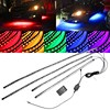 4pcs Car RGB LED Strip 5050 SMD Decorative Atmosphere Lamps Under Car Tube Underglow Underbody System