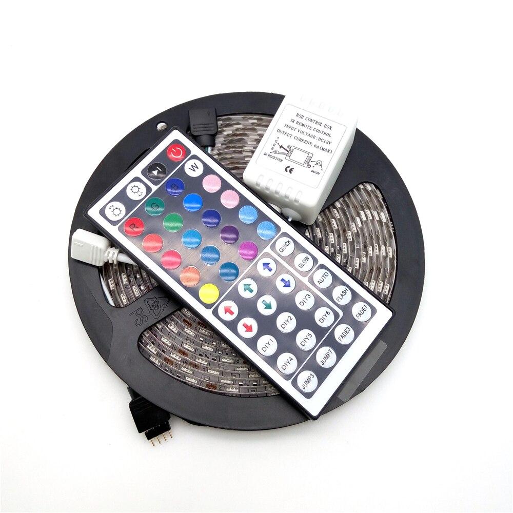 LED csík fény 5050 RGB 5M 300 LED hajlékony szalag fénykészlet + - LED Világítás - Fénykép 2