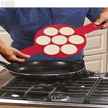 Cocina DIY 7 hoyos Pastel de Huevo Modo de Modo de Modo de La Familia Del Hogar Hogar Frito Panqueque Pastel de Gel de Sílice