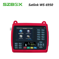 SZBOX satlink ws 6950 3,5 дюймов TFT ЖК дисплей экран спутниковый искатель dvb s ws6950 СБ finder mepg2 метр satlink 6950 цифровой сигнала