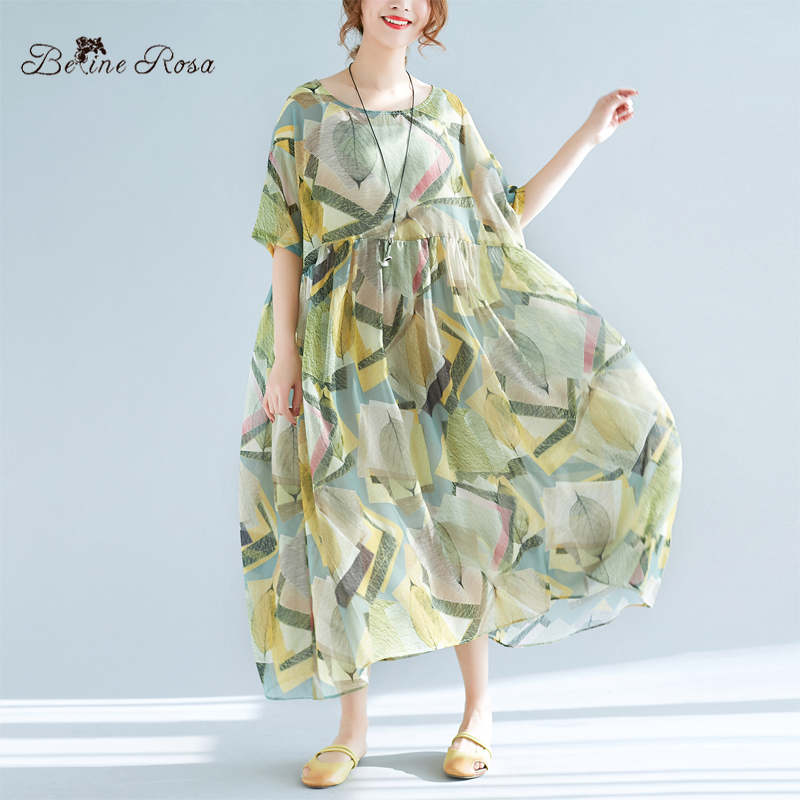 BelineRosa 2018 Women s Summer Dresses Holiday Casual Style Plus Size  Summer Clothes 2 pcs Printing Dress XMR00055-in Dresses from Women s  Clothing on ... 0f7fa9490b7d
