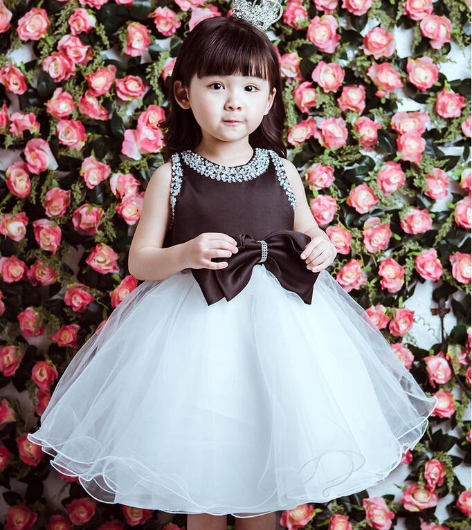 Elegant summer girl birthday dresses toddler pearl tutu flower girl elegant summer girl birthday dresses toddler pearl tutu flower girl dresses for weddings whiteblack baptism dresses 2 11y in dresses from mother kids on mightylinksfo