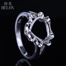 HELON SOLID 14K WHITE GOLD 10x10MM HEART SHAPE WEDDING ANNIVERSARY FINE RING SETTING WOMEN'S FASHION JEWELRY RING