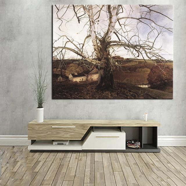 Andrew Wyeth Paysage Peinture Murale Toile Pour Mur Art Décoration Peinture  à Lu0027huile Peinture