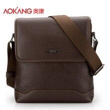 Aokang Top Quality Genuine Leather Men's Shoulder Bags 2 colors Black/Brown