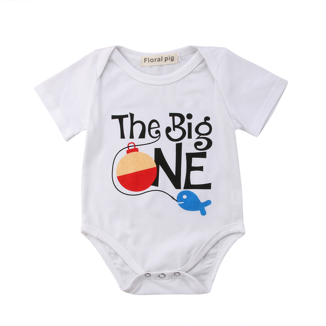 990e97011223c 0-18M Newborn Baby Girl Cotton Clothing Letter Funny Bodysuit Short sleeve  Sunsuit Outfits Cute costume