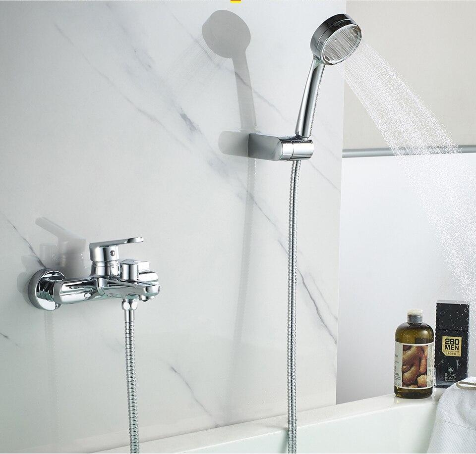 ledeme bathtub faucets hot and cold water bathroom shower bath faucet spray shower head chrome bathtub faucet l3266