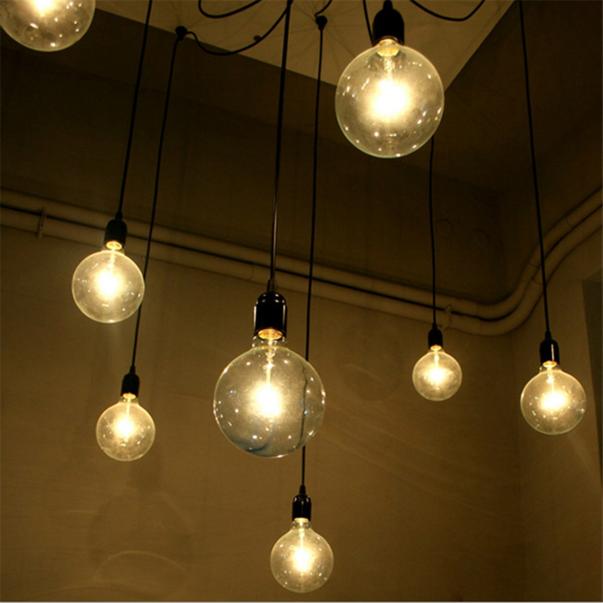 Modern Retro DIY 8 Pendant Lights Hanging E27 Edison Bulb Spider Night Lamp Fixture Living Room Home Decor Novelty Lighting In From