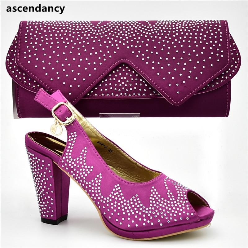 Schuhe Taschen Designer Und Neue Heels Passende Set Hohe Ankunft Mit Afrikanische Pumps BlauGoldGr Luxus Strass Frauen w0PknO