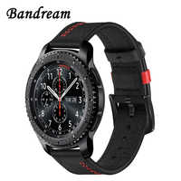 22mm unikalny pasek do zegarka z prawdziwej skóry do Samsung Gear S3/Gear 2 Neo/Live Amazfit Pace/Stratos 2 szybki zegarek z branzoletką