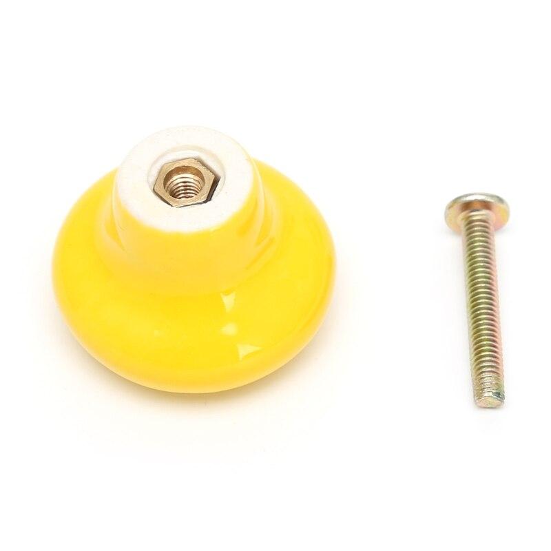 1 шт. круглая ручка для шкафа Керамическая Дверь Шкаф Ящик кухонный выдвижной домашний декор