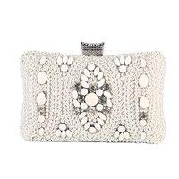 TANGSONGGUCI Bling Bling Mixed Color Women Evening Bags Rhinestones Handbags With Chain Shoulder Bag Imitation Pearl