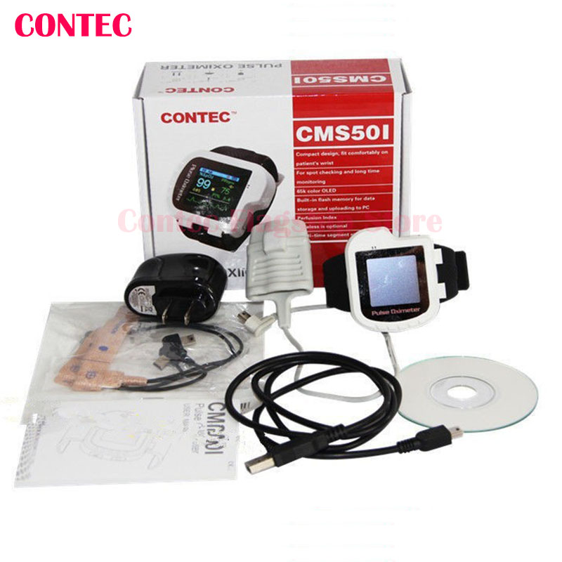 Pulse Oximeter ,Health,White color,CMS50I Pulse Oximeter, Wrist Watch Style,Blood Oxygen Monitor,PI,SPO2,PR