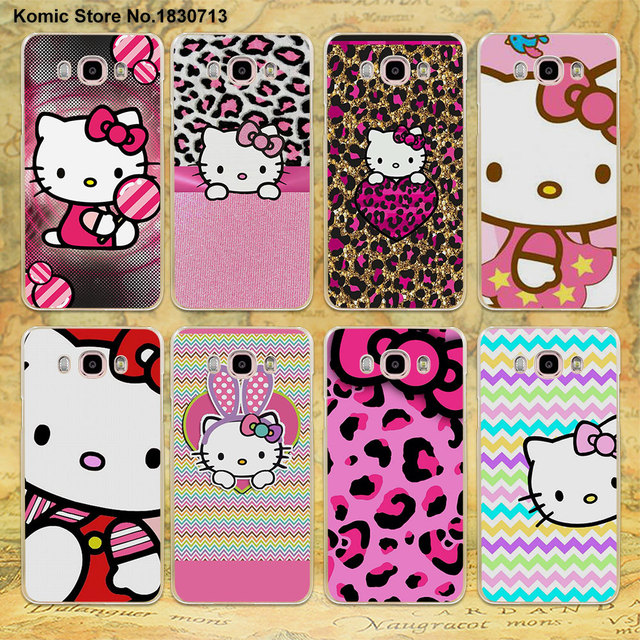 finest selection aab1e 14130 US $1.97 34% OFF|Pink Hello kitty cat Clear Thin Mobile phone shell Case  for Samsung J3 J7 2016 J2Prime J7Prime J510 J710 J5 2017-in Half-wrapped  Case ...