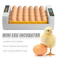 Практичный 24 яйца большой емкости мини-инкубатор для курицы птицы перепела индейки яйца домашнего использования автоматический поворот яи...