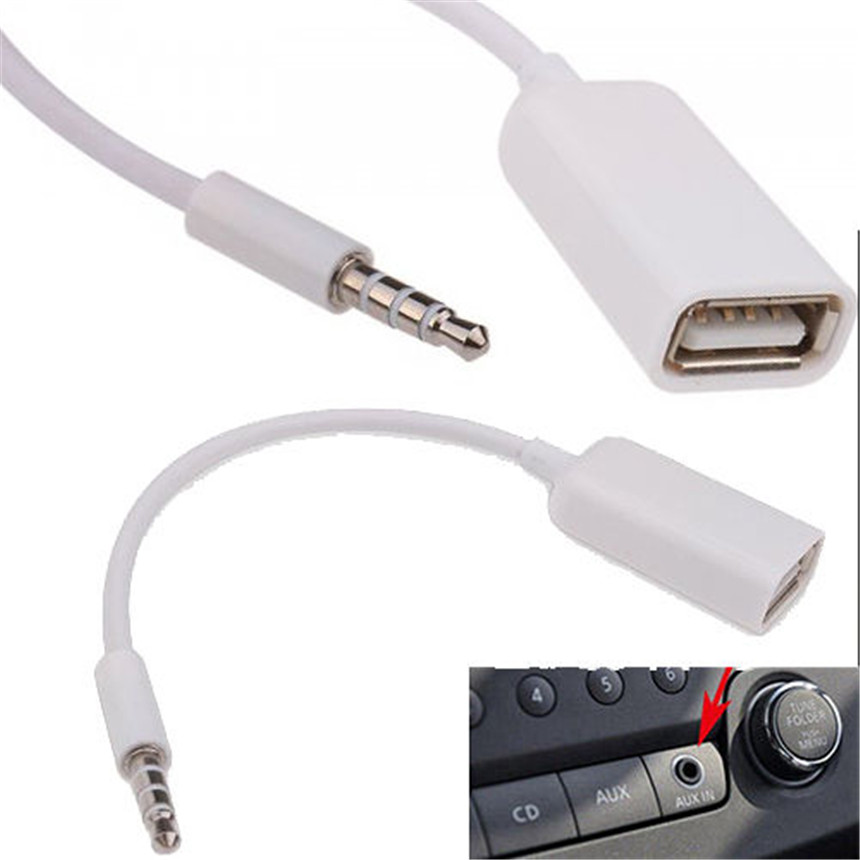 500 unids/lote * 3,5mm macho conector de Audio AUX a USB 2,0 hembra convertidor Cable Jack audio OTG on AliExpress - 11.11_Double 11_Singles' Day 1