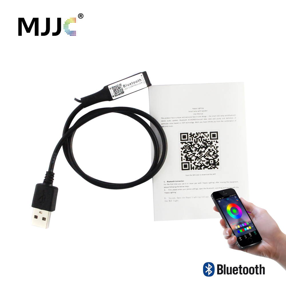MJJC Bluetooth LED Controller RGB 5V 12V 24V LED Strip Light Wireless Bluetooth Controller Android IOS App Music USB Controller image