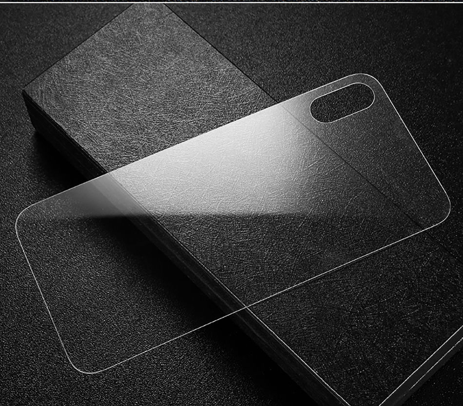 Baseus Transparent Back Screen Protector Tempered Glass For iPhone XS  Max