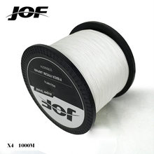 2017 new JOF 1000M Multifilament Fishing Line 100% PE Braided 4 threads fly fishing line or carping fishing 20 – 80lb