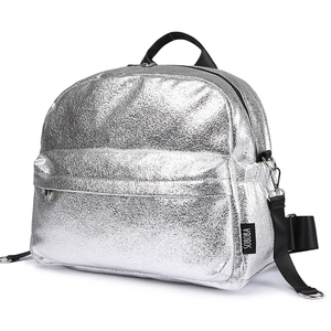 Image 1 - Soboba Textured Silver Travelling Diaper Bag Fashionable Large Capacity Nappy Bags Stylish Maternity Baby Stroller Bags/Backpack