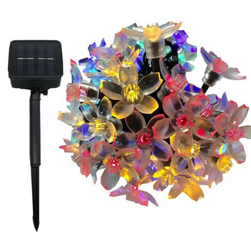 Tanbaby Tanbaby7M 50LED Solar Flower Lantern Garden Beautiful Fairytale Festival Indoor and Outdoor Decoration