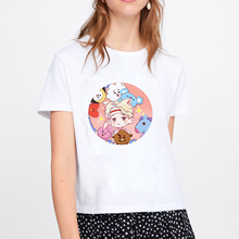 2019 Cotton Mickey Print T Shirt for Womens Summer T-shirt Casual Multicolor Pattern Funny Ladies Top Tee Fashion