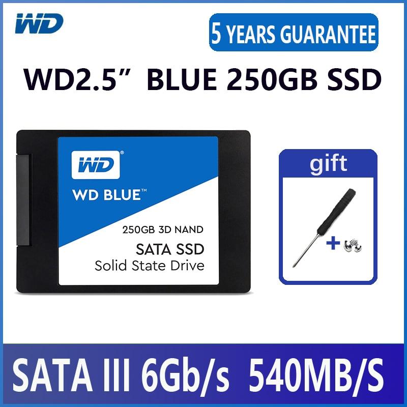 "WD Blue 3D NAND PC SSD 250GB Internal Solid State Hard Drive Disk SATA 3.0 6Gb/s 2.5"" 540MB/S 250G Laptop Desktop-in Internal Solid State Drives from Computer & Office    1"
