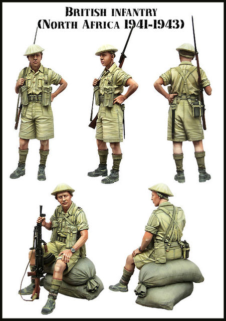 [Tuskmodel] 1 35 escala kit modelo de resina figuras Britânico E136