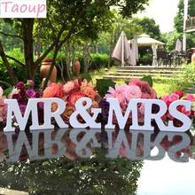 Taoup Mr & Mrs Wooden Letters Home Decor Prop English Alphabet Letters Wood Rustic Wedding Events Accessories Sign Ornaments Hot(China)