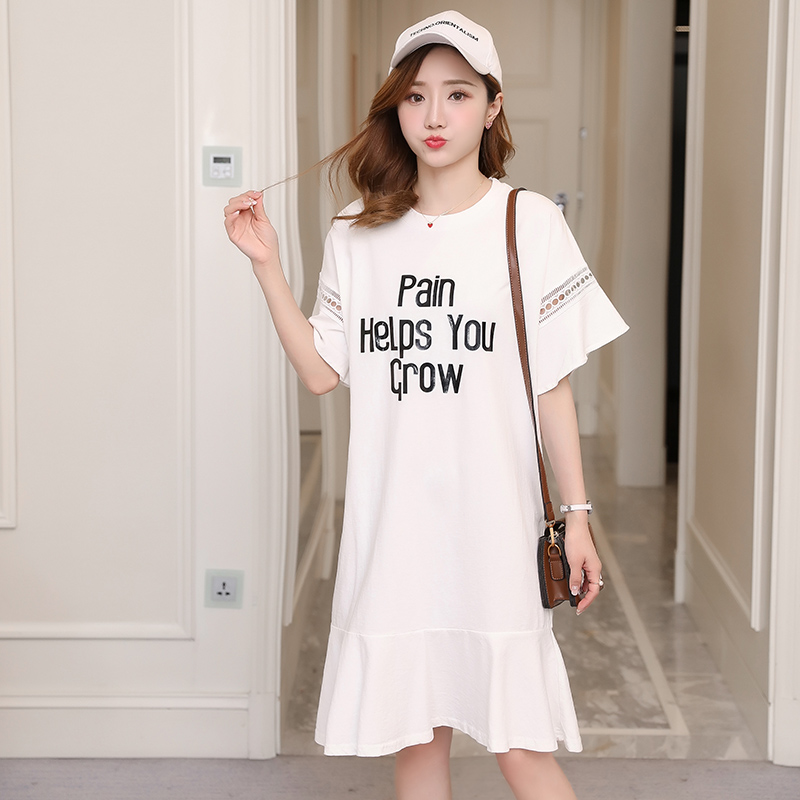 Bohemian Maternity Clothes Letter Printing Summer Pregnancy Dress Fashion Chiffon Maternity Clothing Of Pregnant Women
