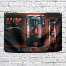 AC DC BEER Banners Hanging Flag Wall Sticker restaurant Cafe beer workshop Restaurant locomotive club Live background decoration(China)