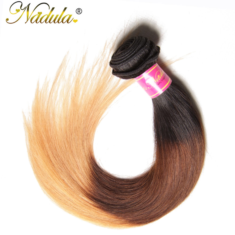 Nadula Hair T1B/4/27 Ombre  Straight Hair s 1Piece Can Be Mixed  Hair Bundles 100%  s 3