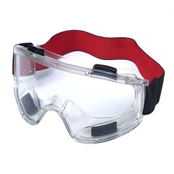 b43e1619f9 Gafas protectoras ergonómicas Anti niebla para hacer ejercicio minero ojo  PVC antiviento gafas de seguridad protección transparente