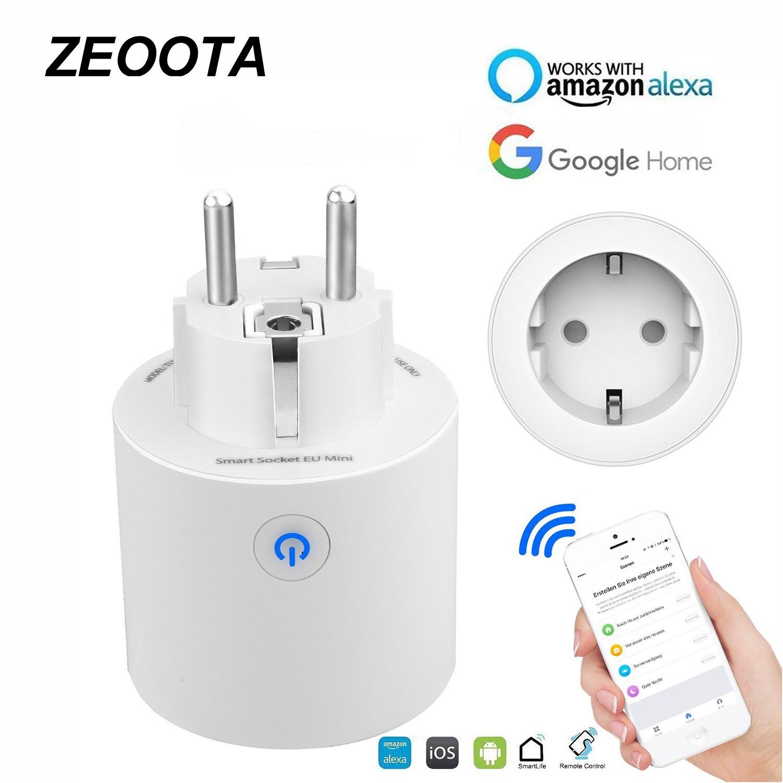Wifi enchufe inteligente de la UE de tomas de Control remoto de voz/APP Control de función de temporización Homekit trabaja con Alexa de Amazon, Google A casa