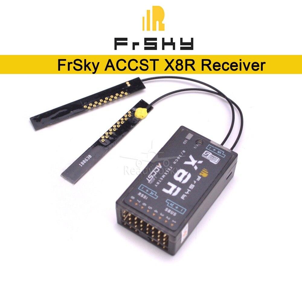 Original FrSky ACCST X8R 8/16ch Receiver for XJT / Taranis X9D Plus / Horus X12S / SMARTPORT and SBUS function