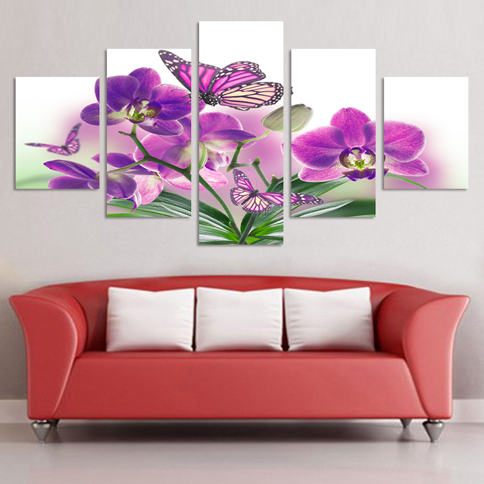 5 piece wall art picture abstract modern wall painting for Picture wall decor