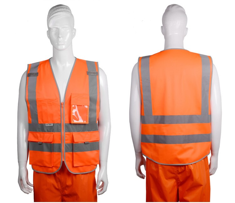 2018 Sale New Vest Material Visibility Security Safety Vest Jacket Reflective Strips Work Wear Uniforms Clothing 16