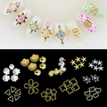 Estrelas do mar âncora animais Sea 3D Nail Art Tips Glitters DIY decoração Manicure roda