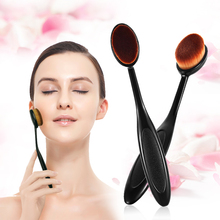 Makeup Brushes chrome  Set Tool Round Tube For Women Cosmetic Makeup Face Powder Blusher Toothbrush Curve Foundation Brush