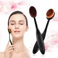 Pincéis de maquiagem Set chrome Ferramenta Tubo Redondo Para Mulheres Maquiagem Cosméticos Face Powder Blush Escova Curva Escova de Fundação