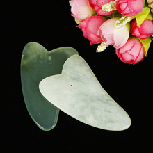 Newest Natural Jade Stone Guasha Gua Sha Board Comb Shape Massage Hand Massager Relaxation Comb