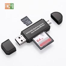 Adaptador Micro USB a tipo C compatible con Micro SD/TF tarjeta/lector USB transferencia de datos convertidor adaptador OTG apoyo dropship