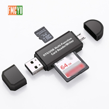 Адаптер Micro USB Type C с поддержкой карт Micro SD/TF/usb ридер для передачи данных OTG адаптер конвертер Поддержка для Прямая поставка