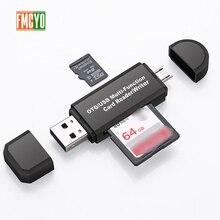 Mikro USB C Tipi adaptör desteği Micro SD/TF Kartı/USB Okuyucu Veri Aktarımı OTG Adaptör Dönüştürücü Desteği dropship