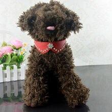 High Quality PU Leather Rhinestone Bowknot Style Pet Cat Puppy Collar