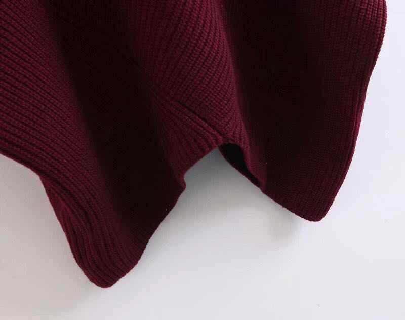 H. SA Donne di Autunno WinterTurtleneck Maglie Manica A Pipistrello Maglione Oversize Poncho Pullover e Maglione Pullover Irregolare Tirare